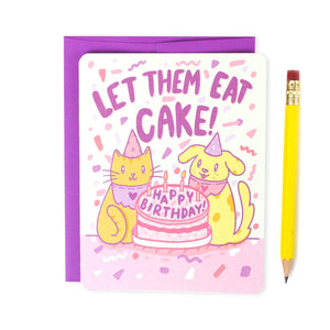 Let Them Eat Cake Birthday Card - for sale by Succy Crafts