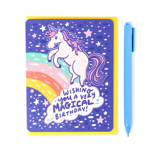 Magical Unicorn Birthday Card - for sale by Succy Crafts