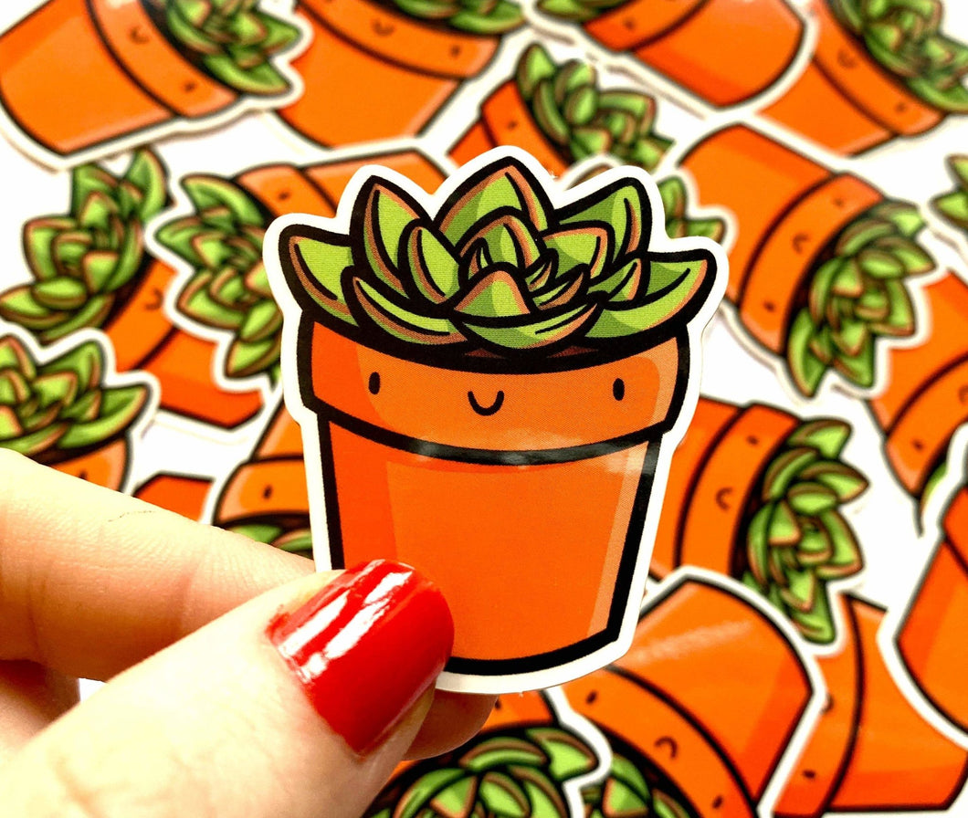 Mini Succulent Vinyl Sticker - for sale by Succy Crafts