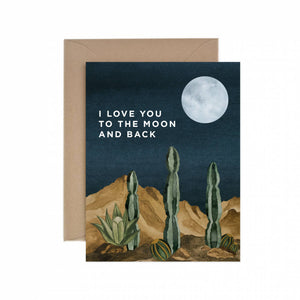 Moon and Back Love Greeting Card - for sale by Succy Crafts