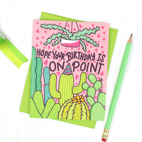 On Point Cactus Birthday Card - for sale by Succy Crafts