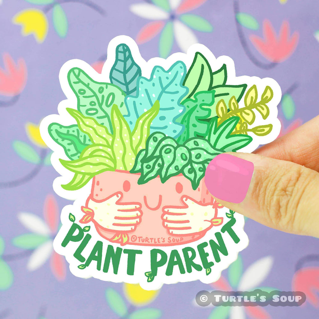 Plant Parent Vinyl Sticker - for sale by Succy Crafts