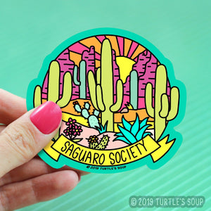 Saguaro Society Vinyl Sticker - for sale by Succy Crafts