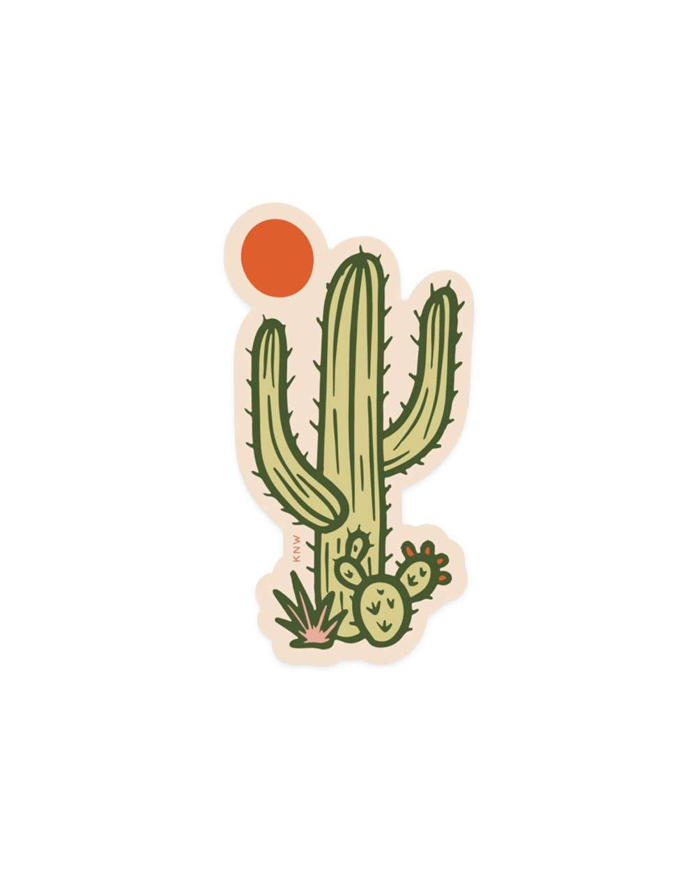 Sunny Saguaro - Sticker - for sale by Succy Crafts