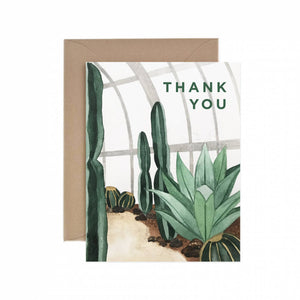 Thank You Cactus Greeting Card - for sale by Succy Crafts
