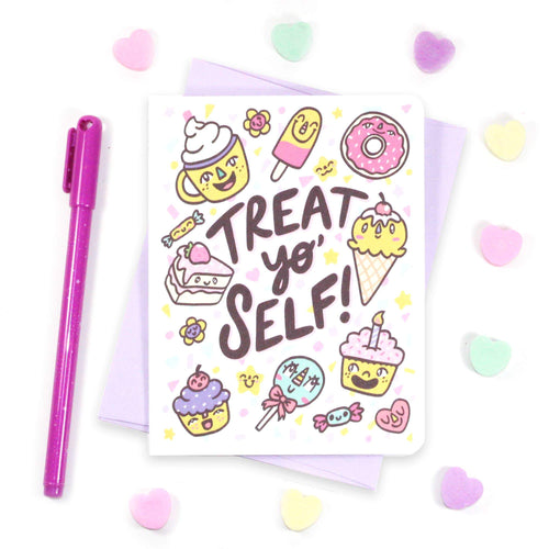 Treat Yo Self Sweets Friendship Card - for sale by Succy Crafts