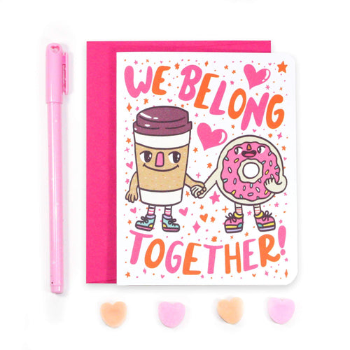 We Belong Together Valentine's Day Card - for sale by Succy Crafts