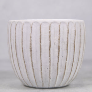 White Concrete Planter - for sale by Succy Crafts