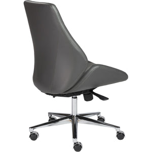 BERGEN ARMLESS LOW BACK OFFICE CHAIR - Fast Ship Furniture