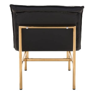 Slate Chair Black & Gold - Fast Ship Furniture