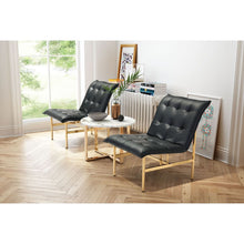 Load image into Gallery viewer, Slate Chair Black & Gold - Fast Ship Furniture