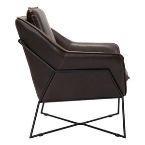 Lincoln Lounge Chair Brown - Fast Ship Furniture