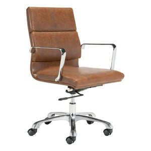 Ithaca Office Chair Vintage Brown - Fast Ship Furniture
