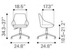 Load image into Gallery viewer, Powell Office Chair Blue - Fast Ship Furniture