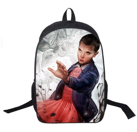Eleven Fighting the Demogorgon Backpack