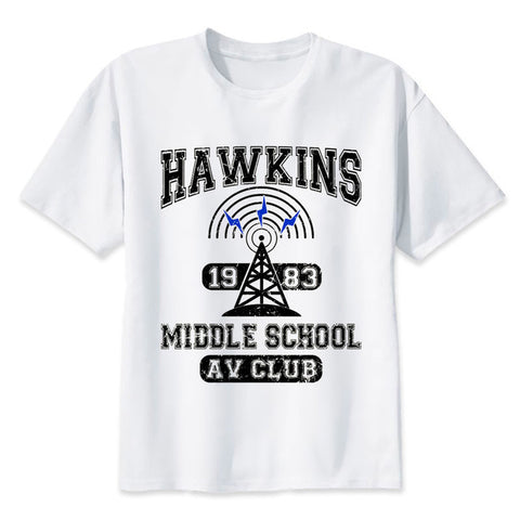Hawkins 1983 Middle School AV CLUB T-Shirt