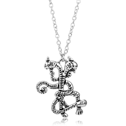 Demogorgon;  Double Snake Dragon Necklace