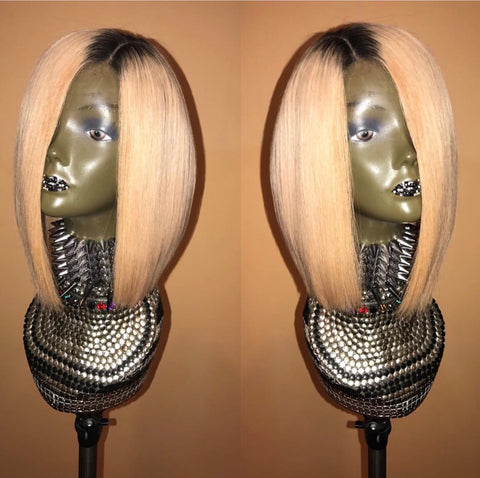 """More Fun"" Custom Blonde Medium Lace Frontal Wig Unit"