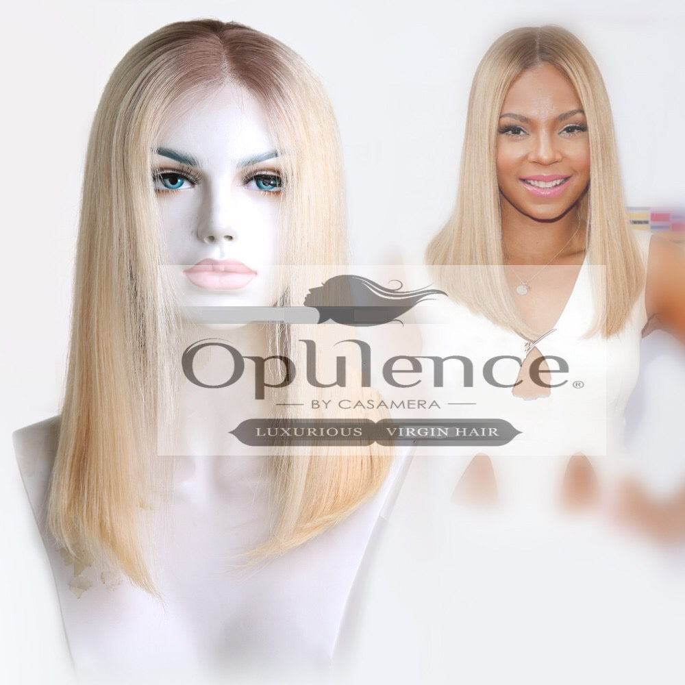 """The Blondes"" Blonde Long Bob Lace Frontal Wig Unit"