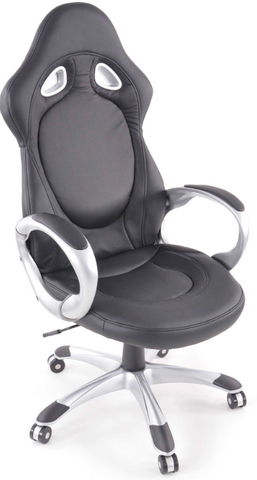 Office Chair synthetic leather black with armrests