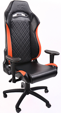 FK sport setat office chair gaming seat Liverpool black/orange swivel chair revolving chair