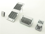 FK Aluminium foot pedal set 4-pcs Mercedes Benz M-Class Pedal Cover stripe design