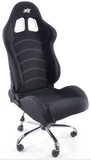 office chair sport seat without armrests colour black
