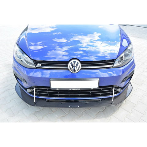 VW GOLF MK7 R FACELIFT (2017-UP) - HYBRID FRONT RACING SPLITTER (MK 7.5)
