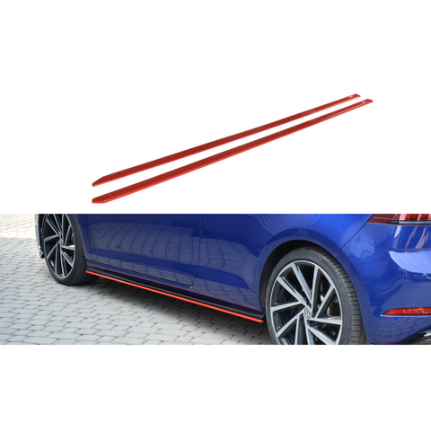 SIDE SKIRTS DIFFUSERS V.2 VW GOLF VII R (MK7.5)
