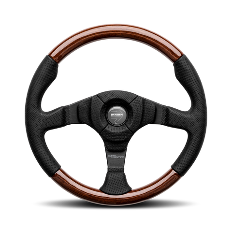 Dark Fighter Wood Steering Wheel