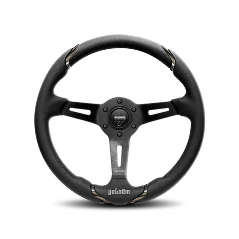 Gotham Steering Wheel - Black Leather