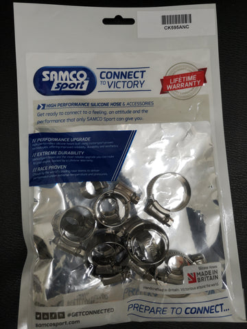 ORIGINAL SAMCO STAINLESS STEEL BELL KIT SUITABLE TO Oil breather hoses TCS595/ANC