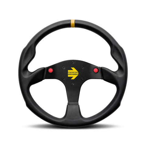 Mod.80 EVO Steering Wheel - Black Leather