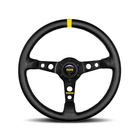Mod.07 Steering wheel - Black Leather