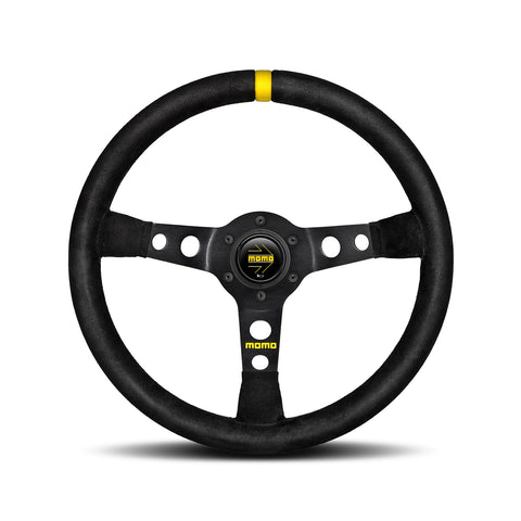 Mod.07 Steering Wheel - Black Suede
