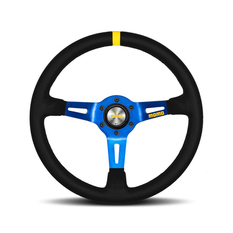 Mod.08 Steering Wheel - Suede, Blue Spoke
