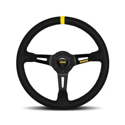 Mod.08 Steering Wheel - Suede, Black Spoke