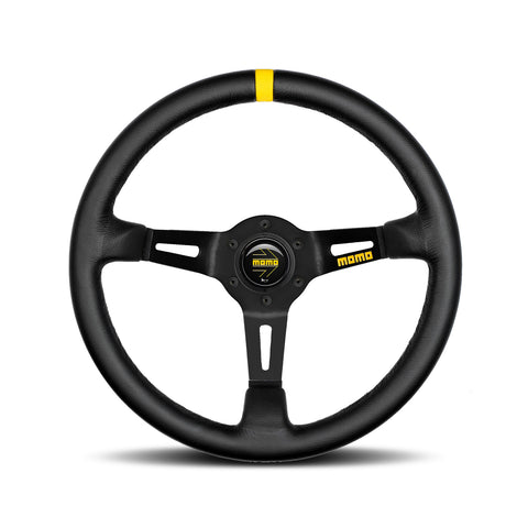 Mod.08 Steering Wheel - Leather, Black Spoke