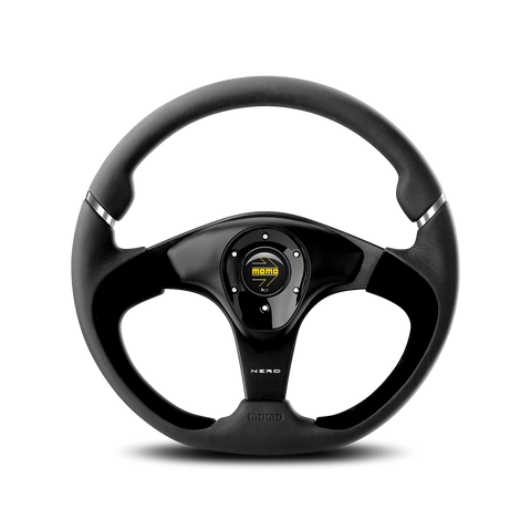 Nero Steering Wheel - Black Leather