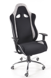 Office Chair material black/grey with adjustable armrests