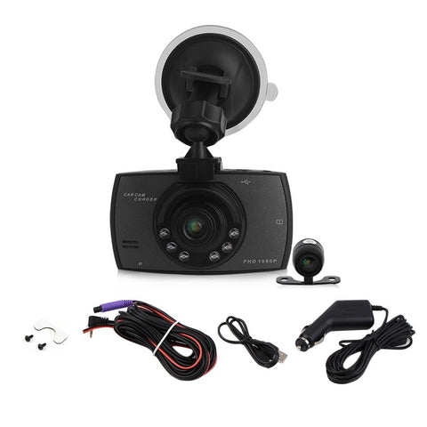 1080P 2.7 Inch HD LCD Double Lens Car Dash Camera