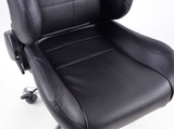 Office chair seat sports, black synthetic leather