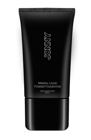 ALMOND - Mineral Liquid Powder Foundation - Jonny Cosmetics