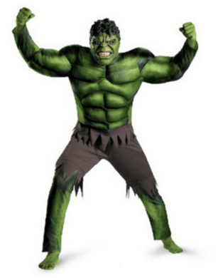 The Avengers Incredible Hulk Superhero Costume