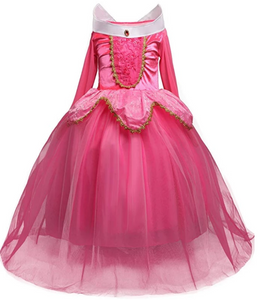 Intricate and Beautiful Sleeping Beauty (Princess Aurora) Girls Gowns - Pink or Blue