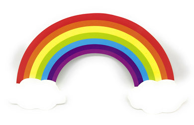 Rainbow and Clouds Cake Topper