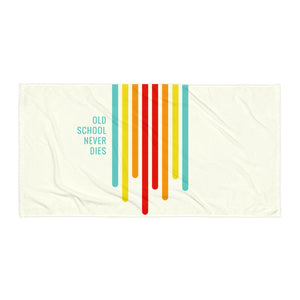 """Old School Never Dies"" Retro Towel"