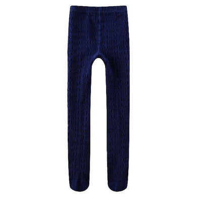 100% Cotton Cable Knit Girls' Leggings