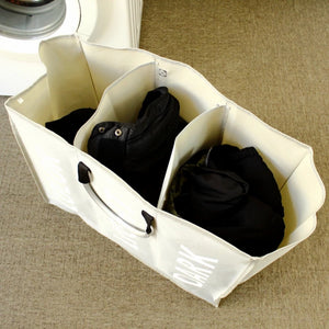 Three Section Laundry Hamper Organizer with Sturdy Handles
