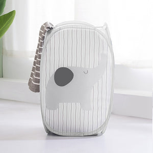 Household Hamper Foldable Cartoon Storage Basket Home Storage Laundry Baskets Laundry Storage Organizer